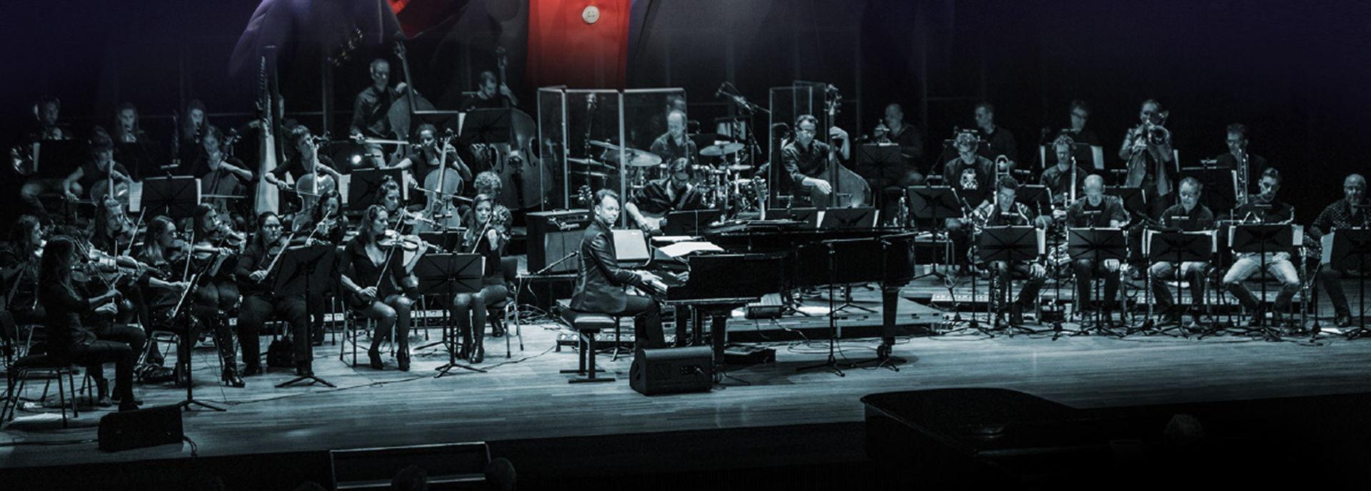 Noordpool Orkest met Paul van Vliet. Nog een keer samen op het podium.