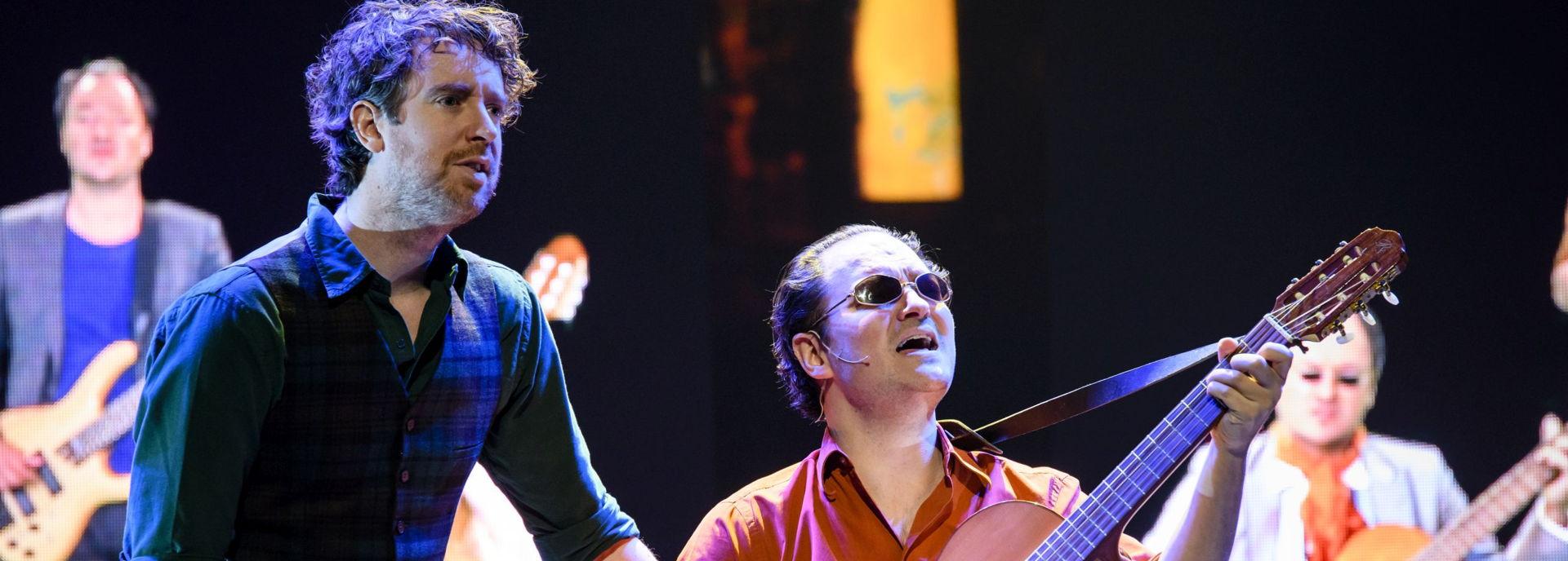 In 2018 stonden van der Laan en Woe in De Tamboer met hun voorstelling Pesetas