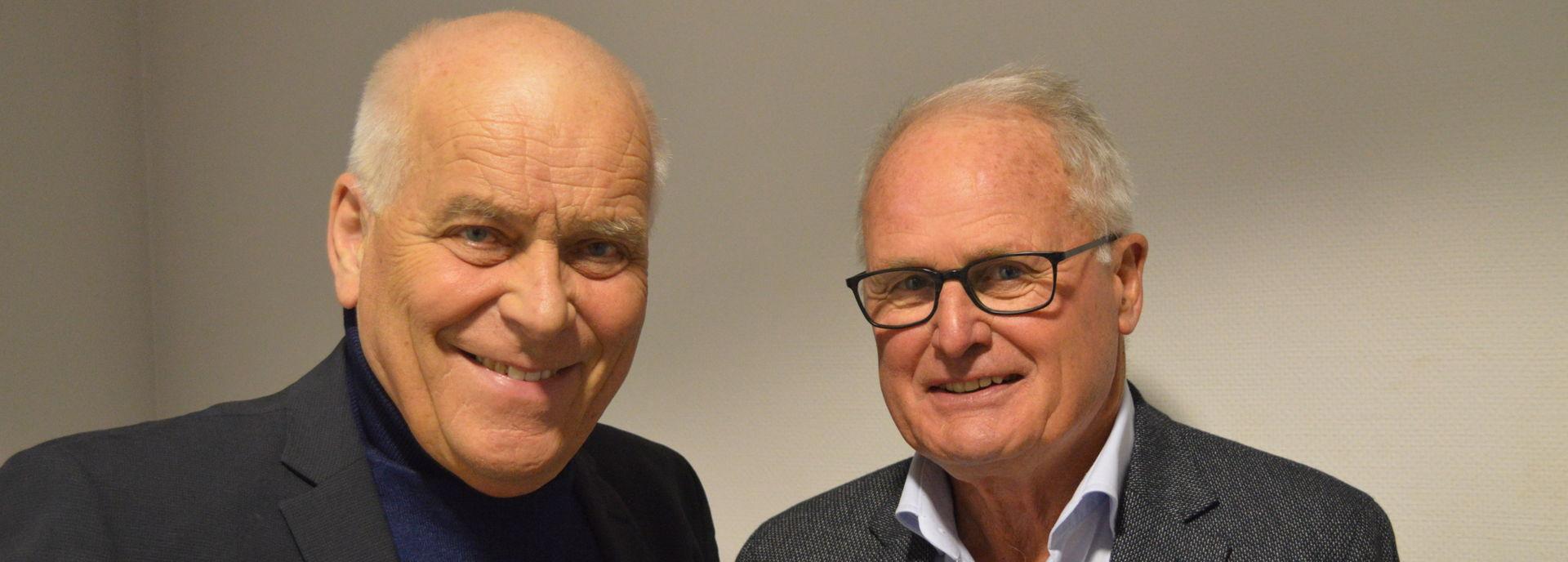 In 2019 gaven Foppe en Evert een theatercollege over voetbal