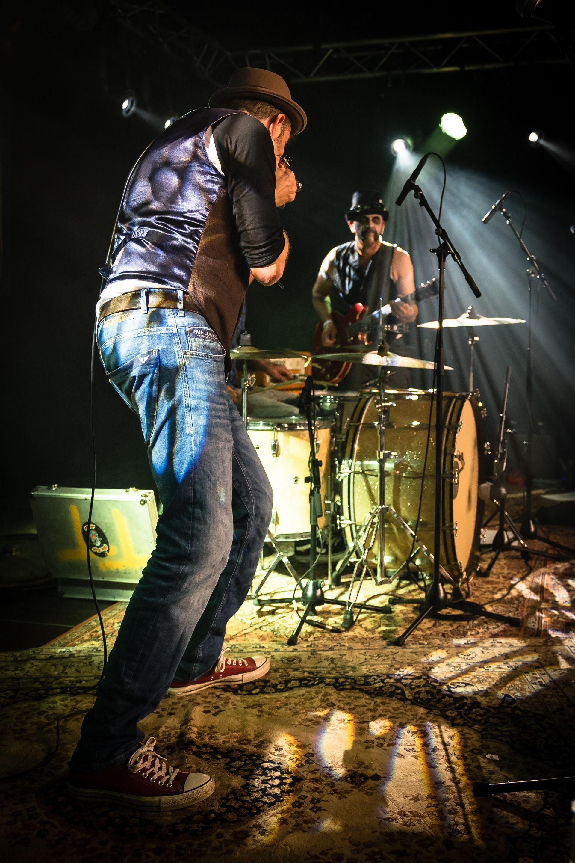 Photo Anya maakte foto's van het optreden van Bacon Fat Louis tijdens de Bluesnight op 5 oktober 2019 in Het Podium