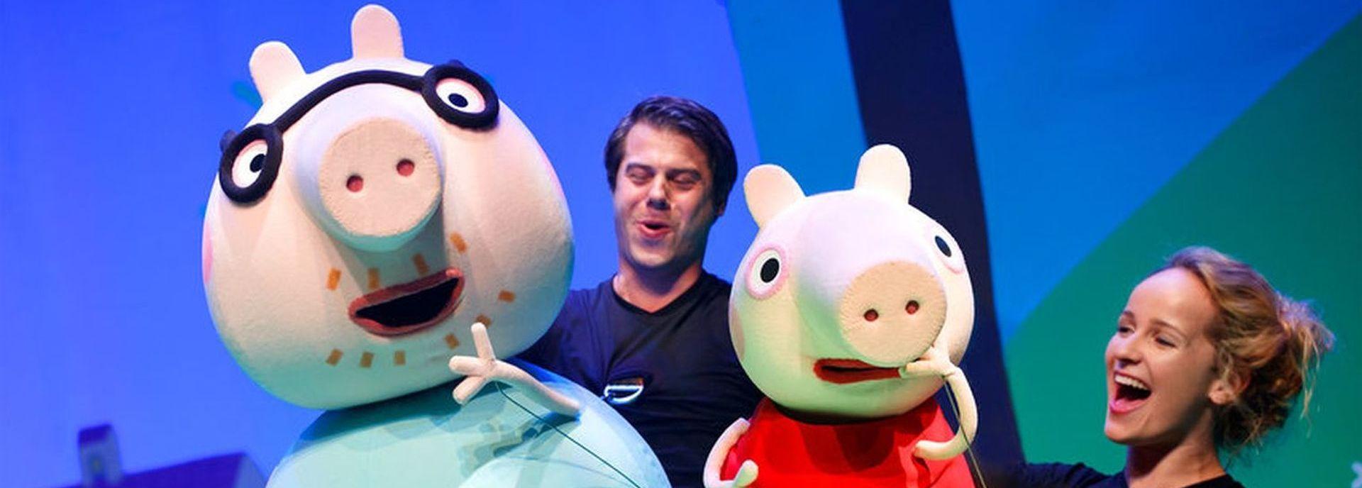 Peppa Pig stond in De Tamboer met De Grote Plons