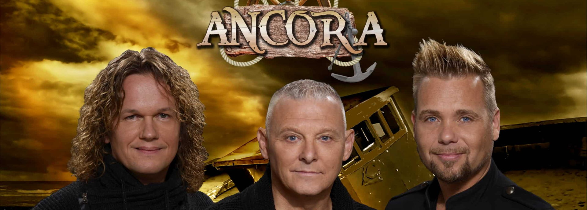 Shantymuziek, Irish folk en pop zijn dé ingrediënten voor de nummers van Ancora. Kenmerkend aan dit trio is de robuuste sound en het aanstekelijke sfeertje. Tijdens Wind in de zeilen slagen de drie mannen er dan ook wederom in om het publiek optimaal te vermaken.