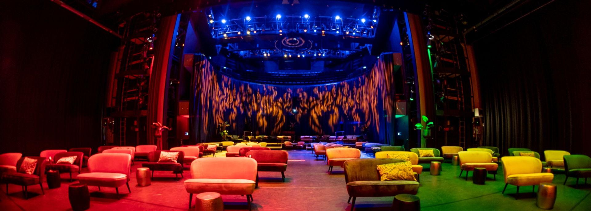 De Tamboer-lounge opstelling in de Tamboerzaal