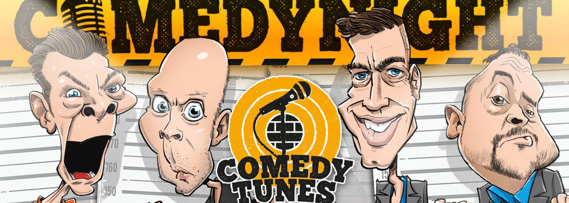Op deze Comedytunes Comedynight vertellen drie comedians in hoog tempo de meest absurde en hilarische verhalen. MC Arie Koomen praat het geheel aan elkaar. Je merkt het al snel: je ontspant, lacht en voelt je stresshormonen verdwijnen. De maffe verhalen van de comedians zorgen voor de aanmaak van endorfine en gelukshormonen. Na een avondje Comedytunes Comedynights sta je daarom weer buiten met een fris en energiek gevoel. Waar wacht je nog op?! Vincent Geers, Ronald Smink en Patrick Meijer staan al te trappelen!