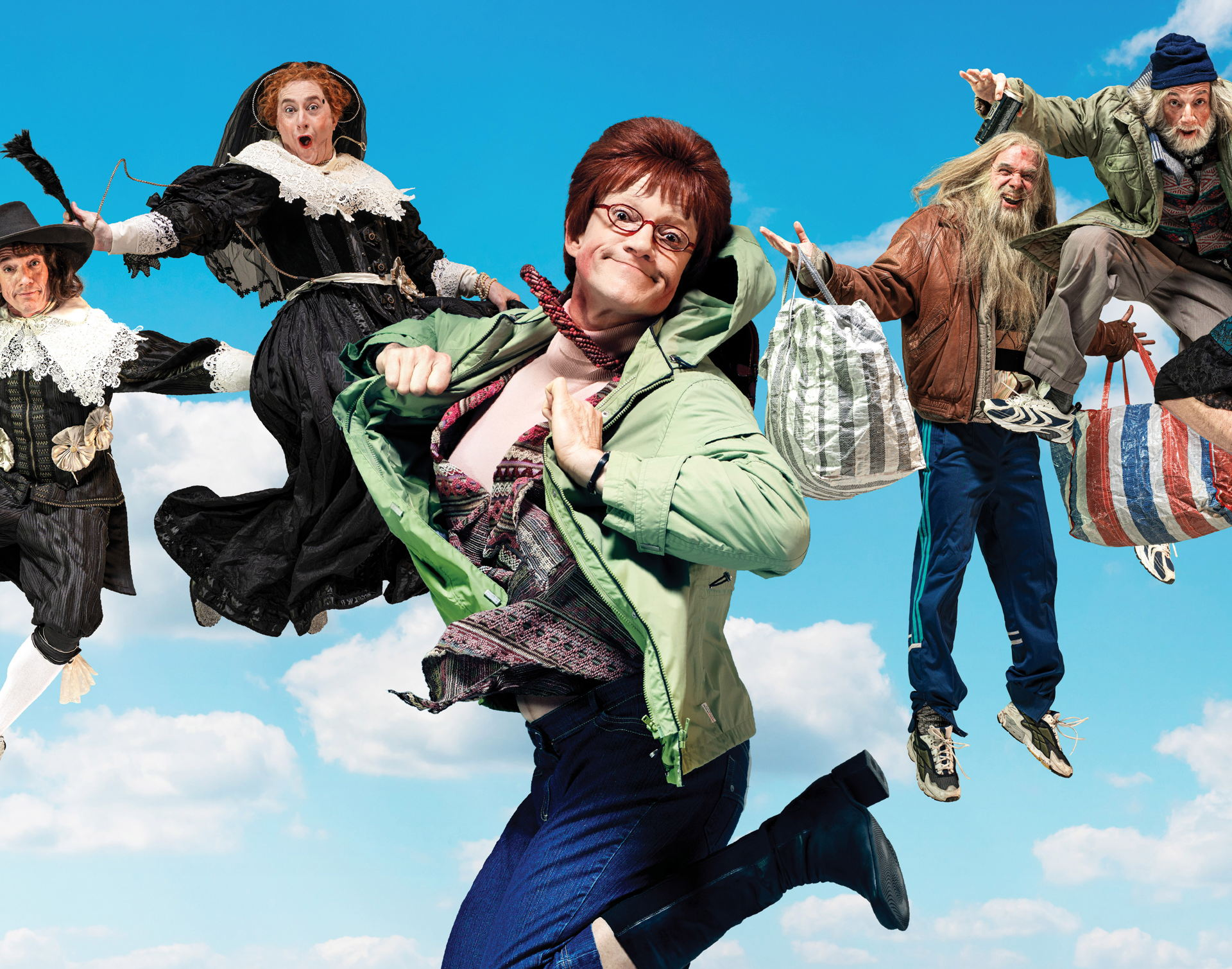 Owen Schumacher, Jeremy Baker en Paul Groot duiken samen met Ruth Sahertian en Jeske van der Staak in heerlijk herkenbare, confronterende sketches, songs en scènes van Koefnoen. Met bekende types als happy single Ipie en ANWB-duo Okko en Eus.